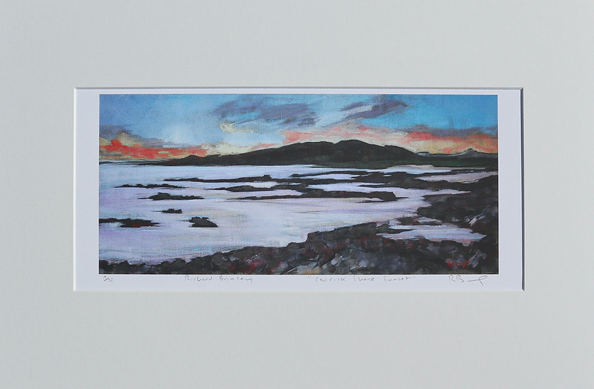 """Carrick Shore Sunset ""mounted limited edition print"