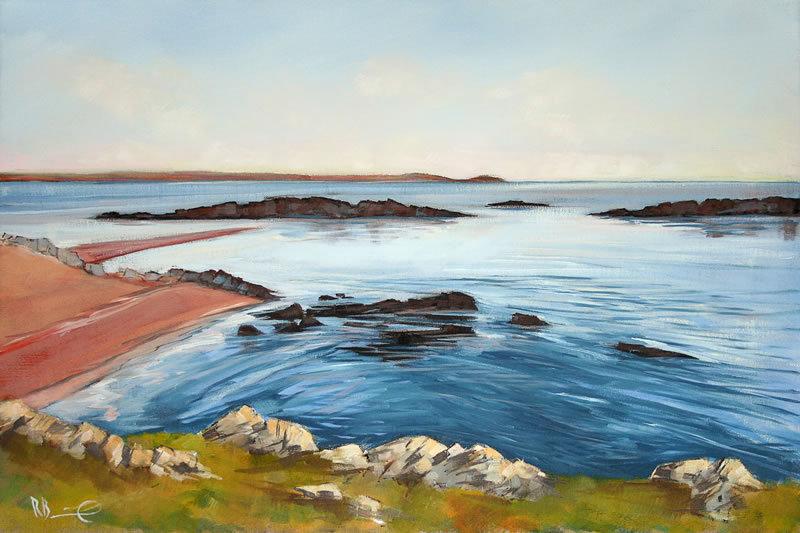 "Richard Brinley ""Blue Lagoon, Mossyard"" Giclee Print"