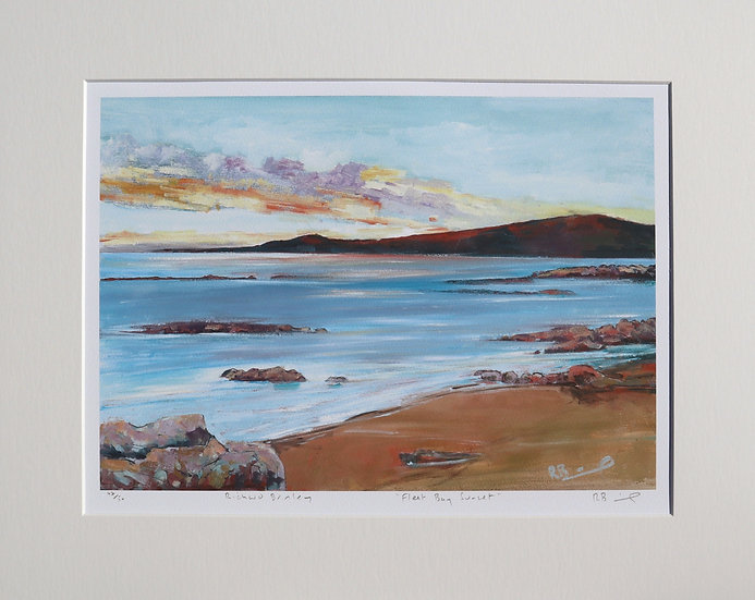 """""""Fleet Bay Sunset """" mounted limited edition print"""