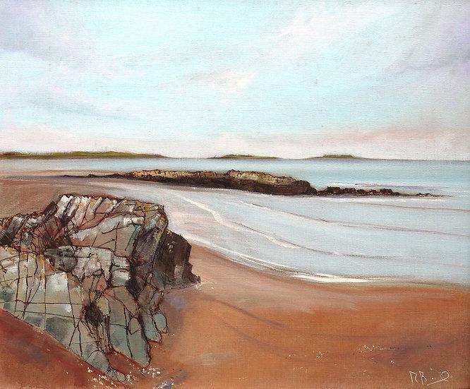 "R.Brinley ""Newton Beach , Fleet Bay "" 50cm x 60cm oil on canvas"