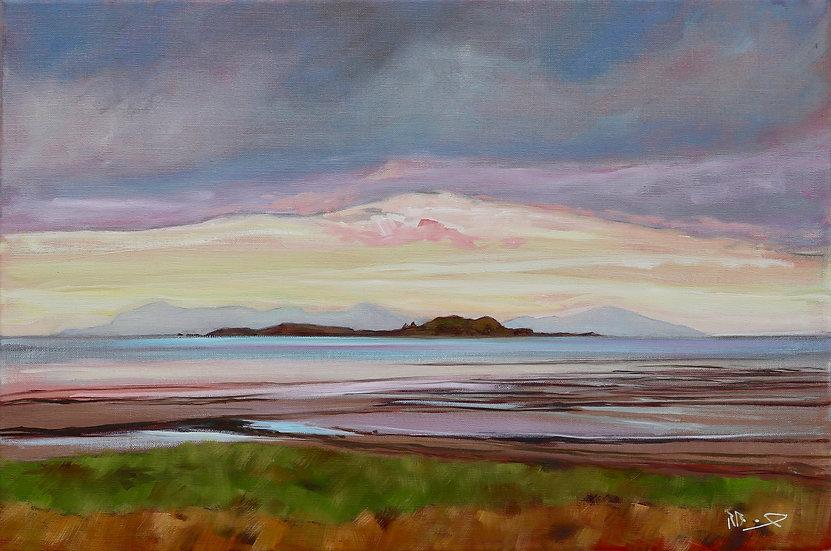 "Richard Brinley ""Isles sunset Skyreburn Bay "" 40cm x 60cm Oil On Canvas"