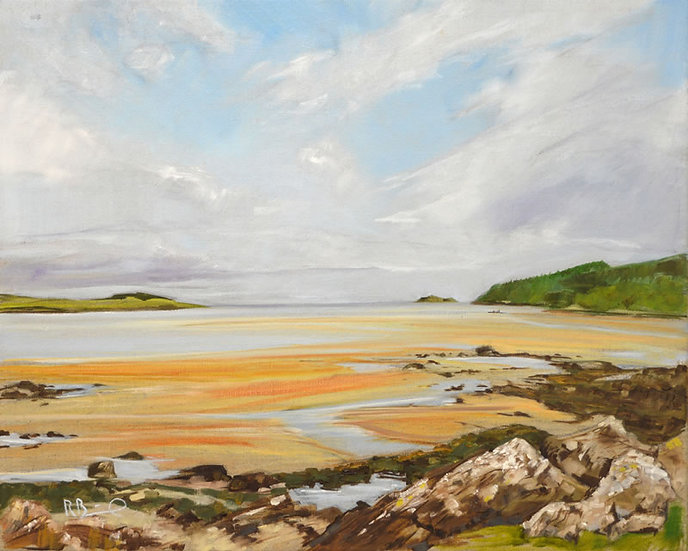 "Richard Brinley ""Dhoon Bay Summer , Kirkcudbright.""  Mini Print"