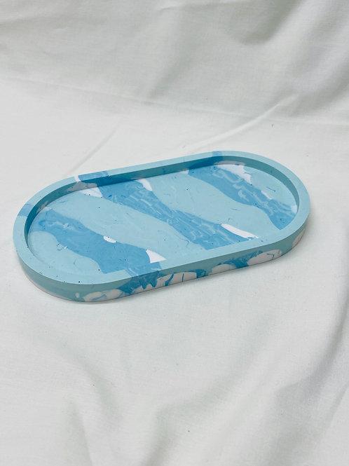 """Tablett """"oval"""", blau-mint"""