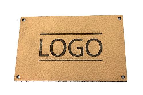 Label rechteckig 60 x 40 mm mit Logo