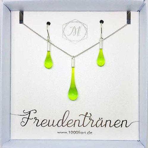 Schmuckset Freudentränen grün transparent
