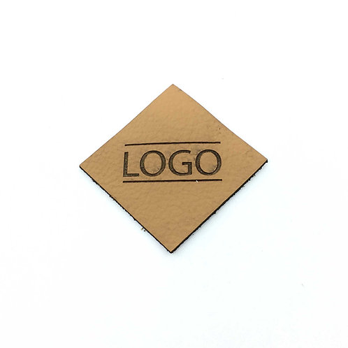 Label Raute 40 x 40 mm mit Logo