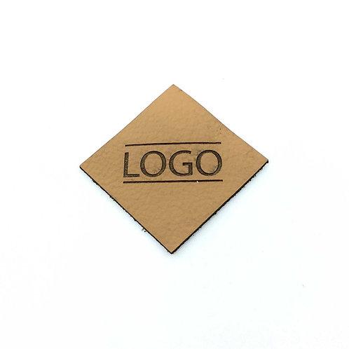 Label Raute 40 x 40 mm mit Logo