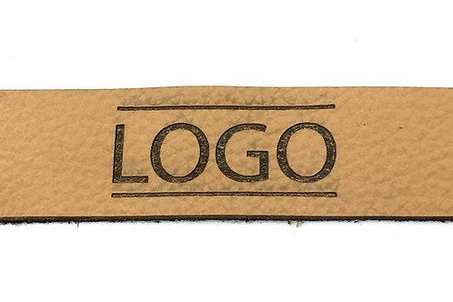 Label rechteckig 80 x 20 mm mit Logo