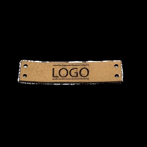 Label rechteckig 45 x 10 mm mit Logo