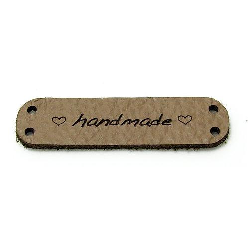 """Label standard """"handmade"""" mit Herzchen"""