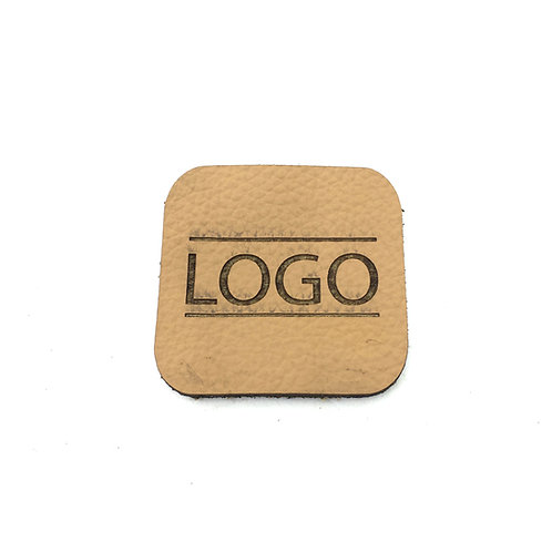 Label quadratisch abgerundet 40 x 40 mm mit Logo