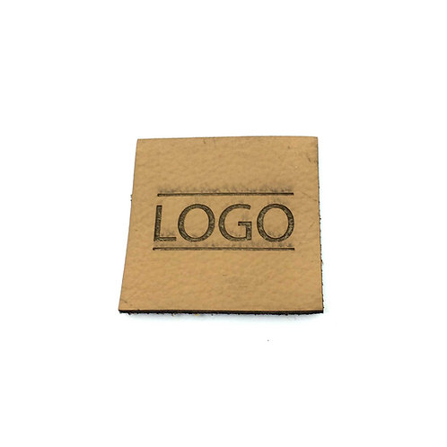 Label quadratisch 30 x 30 mm mit Logo, 100 St.