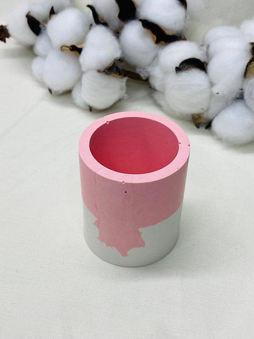 """Mini-Becher """"rund"""", rosa-weiß"""