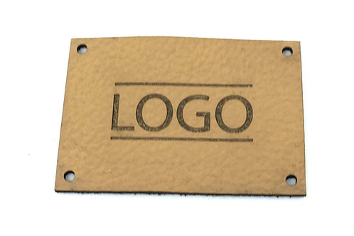 Label rechteckig 50 x 35 mm mit Logo