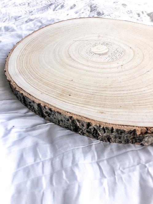 Round Live Edge Wooden Board