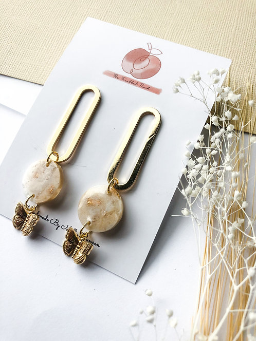 Jolie Butterfly Drop Earrings