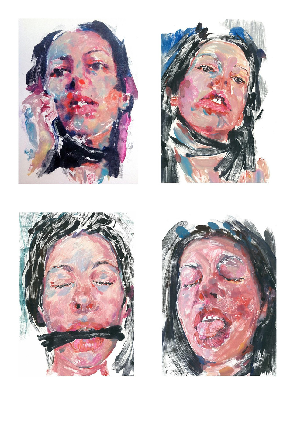 Troubler ses lèvres , texte de Dominique Sampiero , 4 exemplaires avec une oeuvre originale signée .