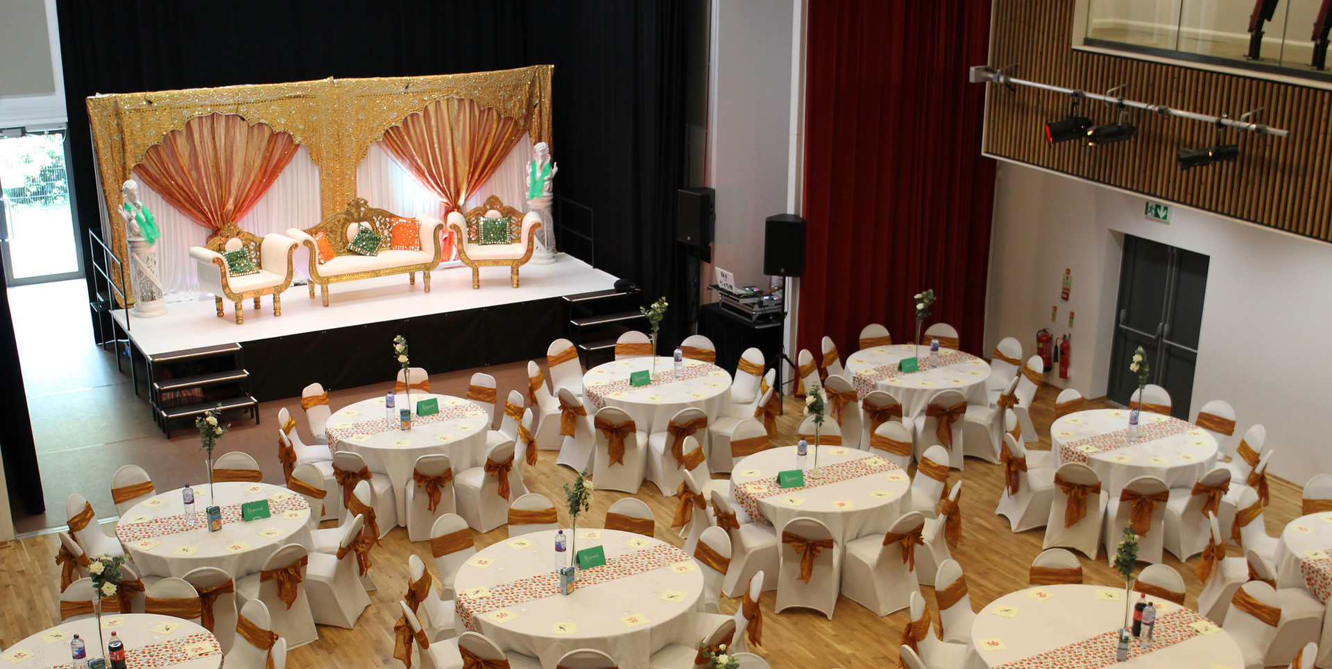 The Auditorium - Wedding Set Up