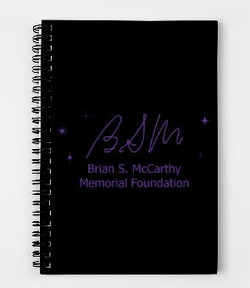 Purple on Black Notebook