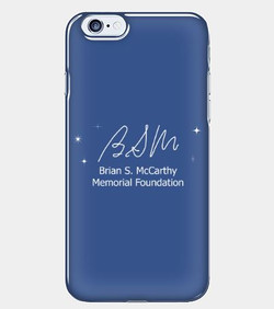 White on Blue Phone Case