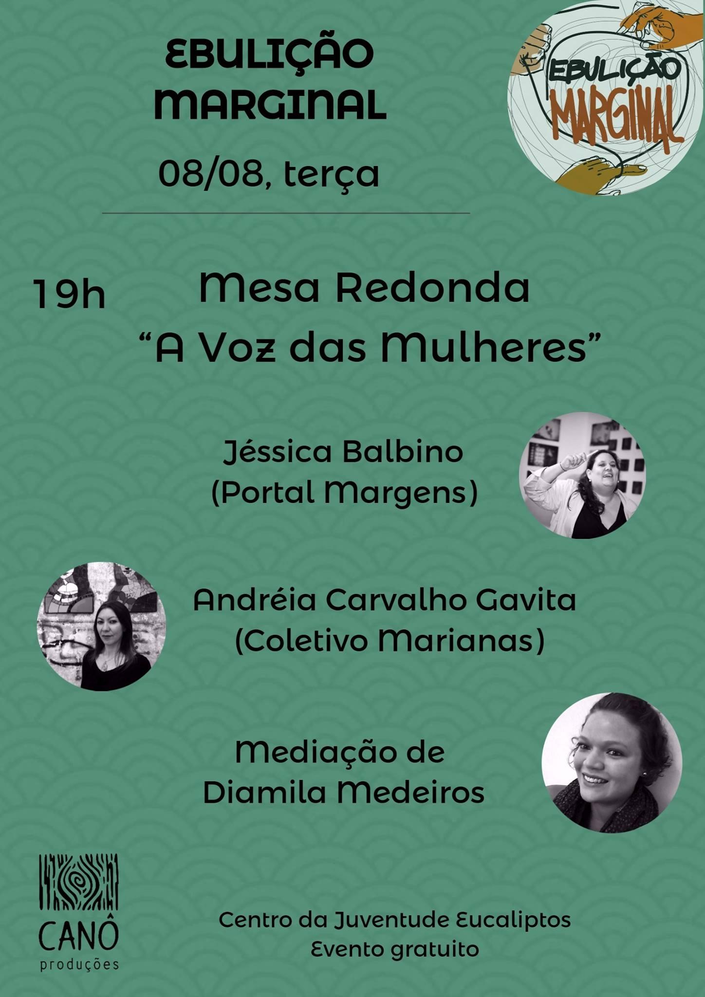 """Mesa Redonda """"A Voz das Mulheres"""""""