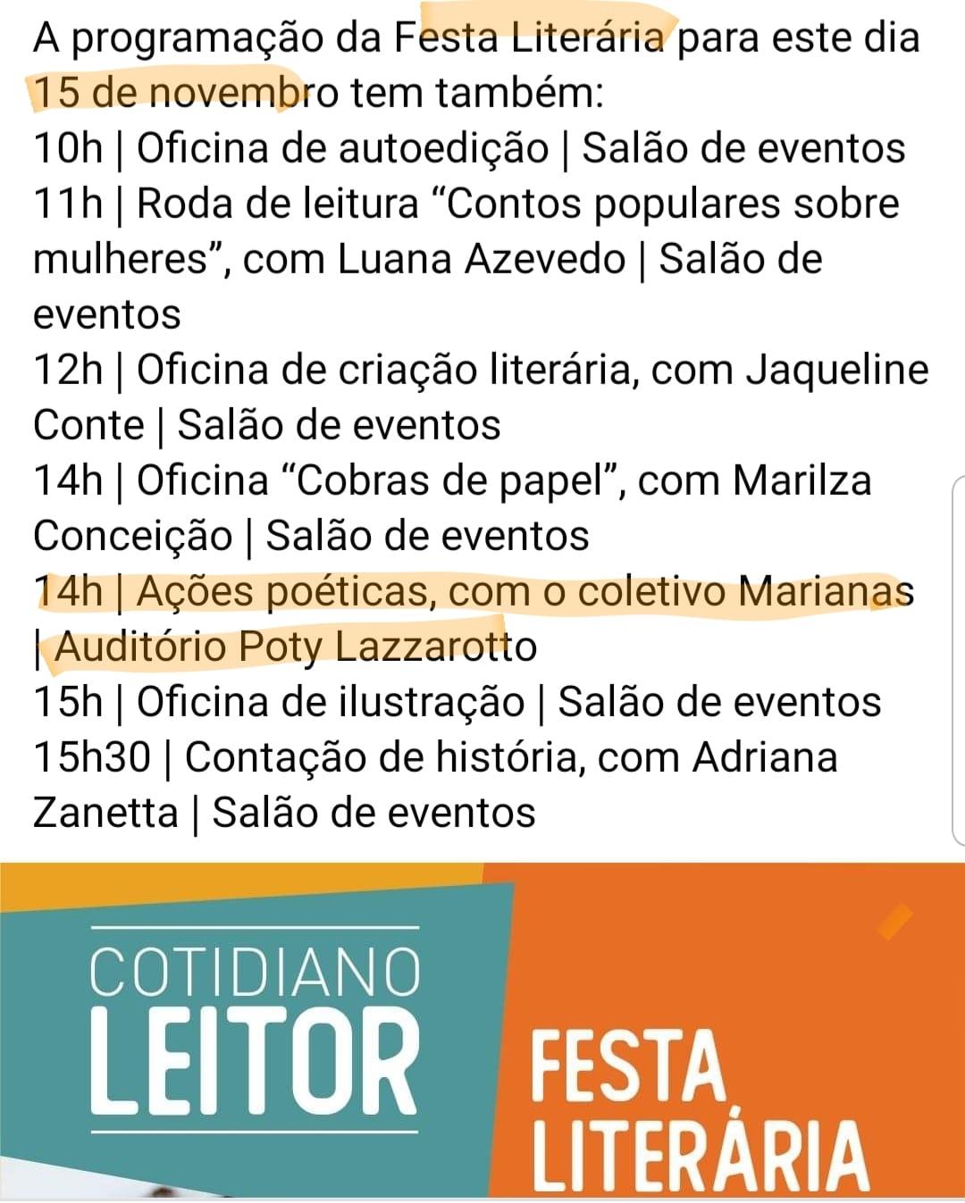 1ª Festa Literária Cotidiano Leitor