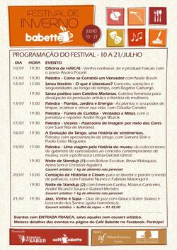 Festival de Inverno do Café Babette