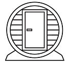 outdoor-mobile-wooden-barrel-sauna-icon-vector-illustration-outdoor-mobile-wooden-barrel-s