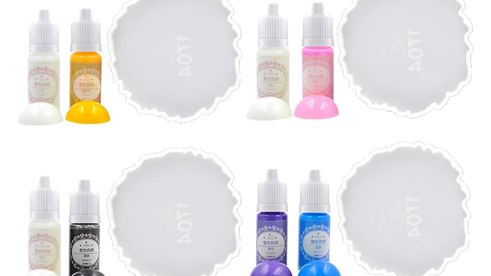 Resin Dye Crystal Clear Epoxy Fast Drying Silicone  Liquid Pigment Jewelry  Kit