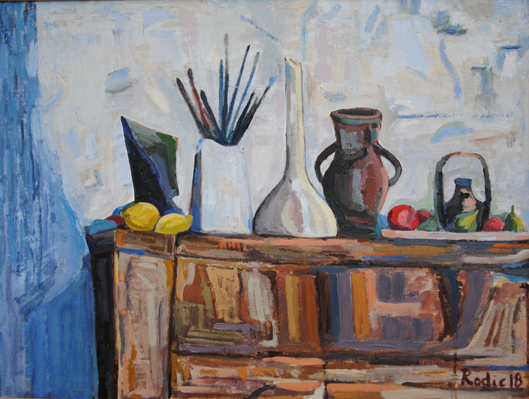 Still Life with Old Cupboard