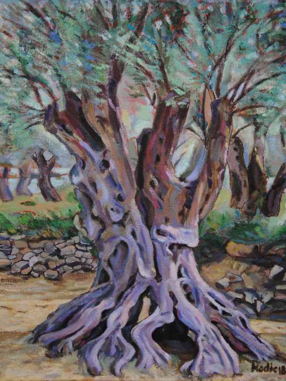 Olive Tree in Purple