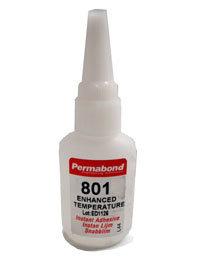 Permabond 801 (high temperature) 1 x 20g bottle