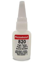 Permabond 820 high temperature 1 x 20g bottle