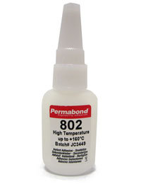 Permabond 802 high temperature 1 x 20g bottle