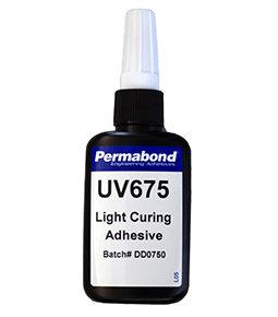 Permabond UV675 high optical clarity adhesive