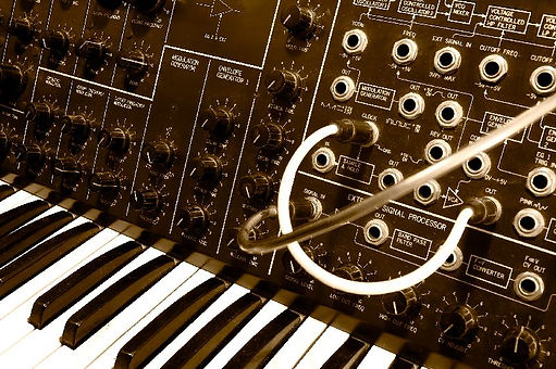 Korg MS10 used by the royal oak abstract ensemble, roae