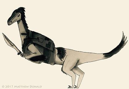 Matthew Donald Creator | Megazoic Dinosaurs – Characters, Anra, Dromaeosaurus