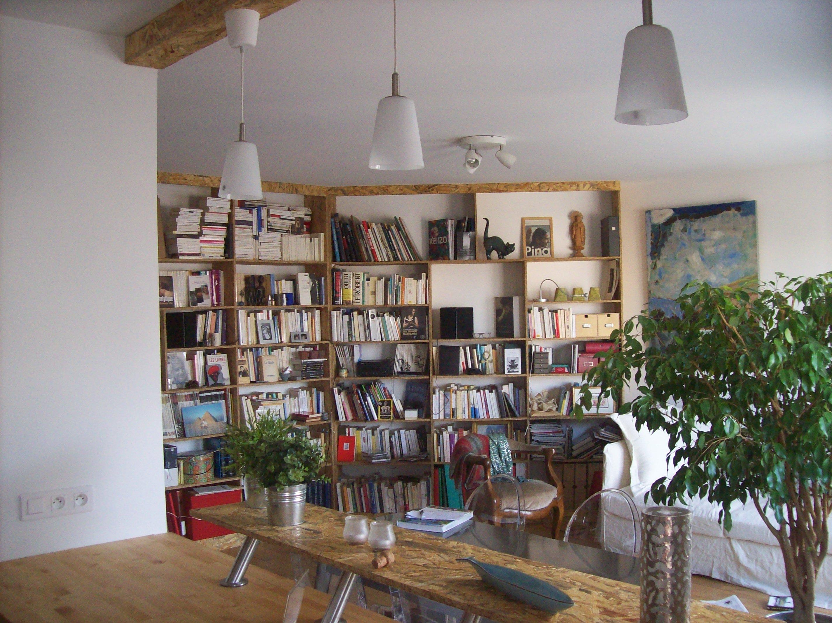 Bibliothèque en OSB