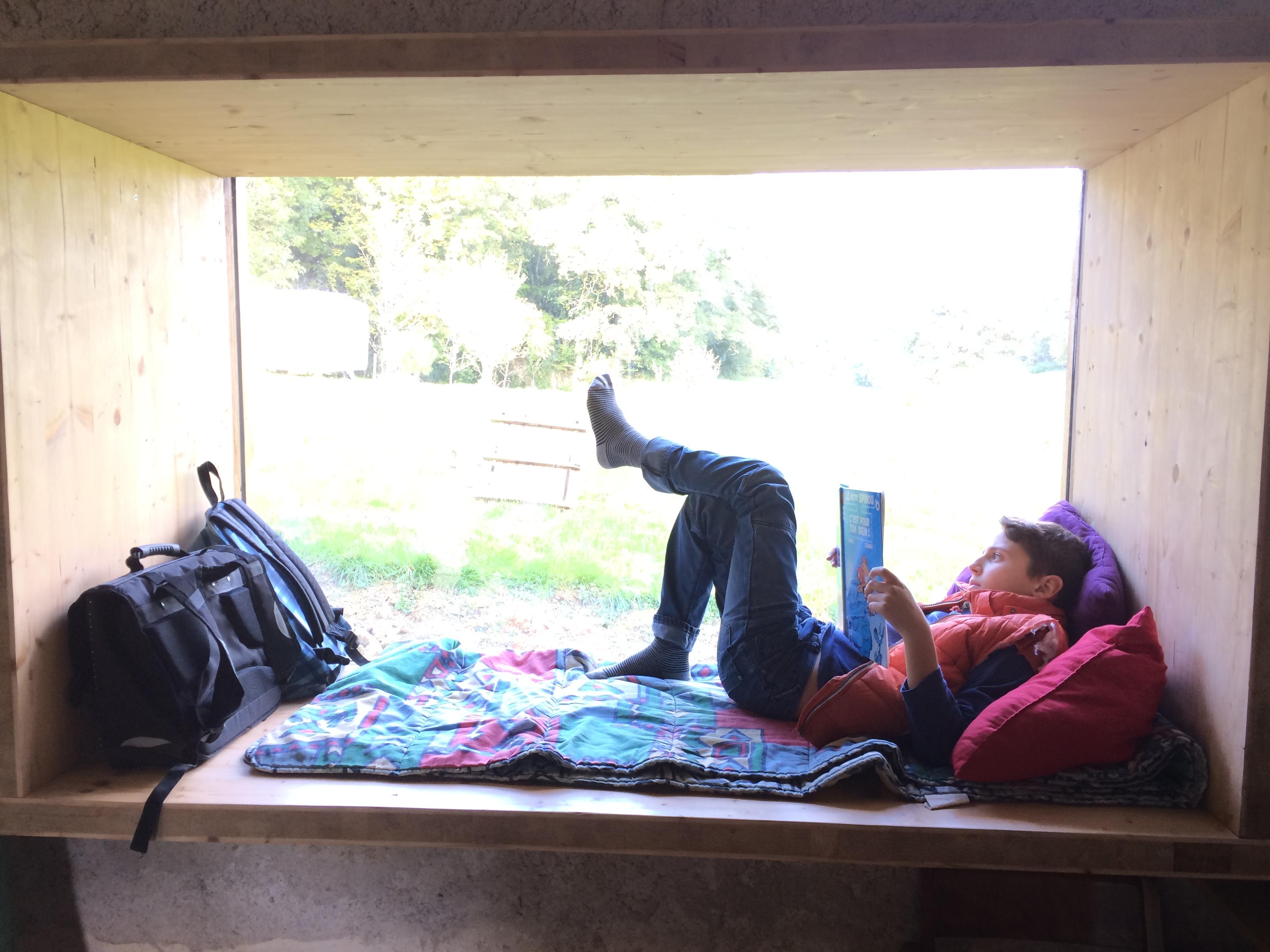 Espace repos dans un mur