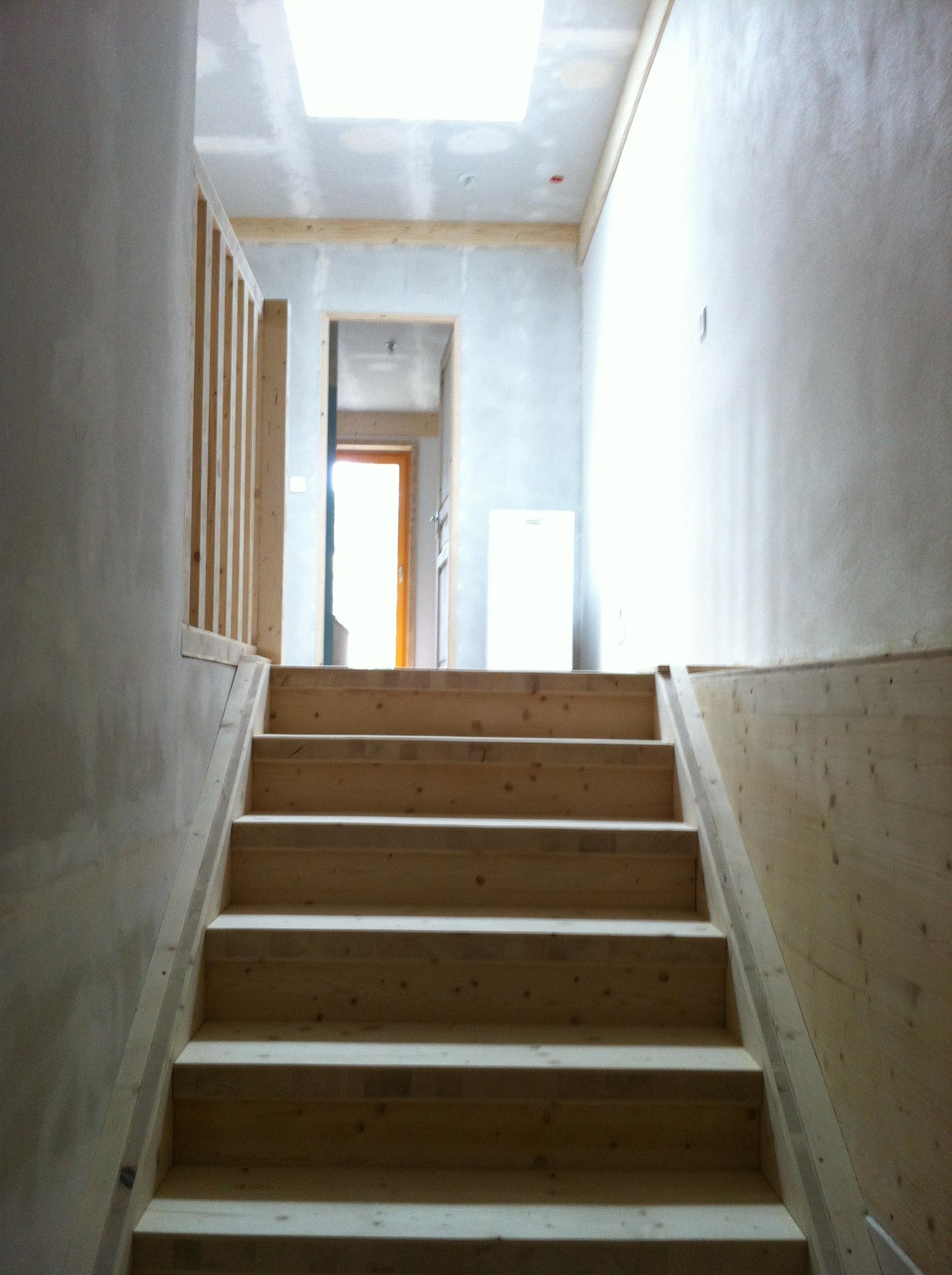 Escalier en trois plis