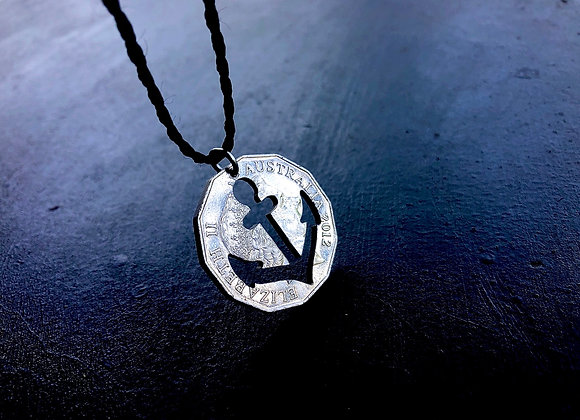 Anchor - Sea Collection-Two Necklaces from one coin
