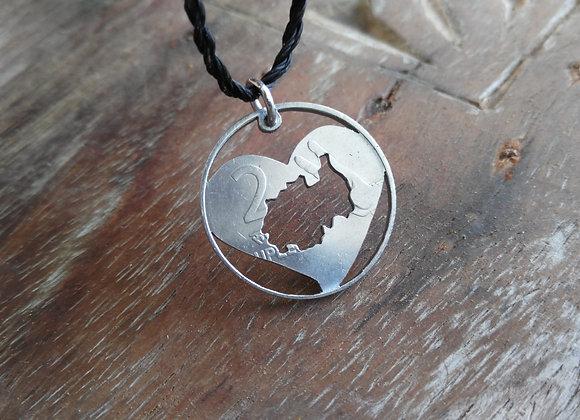 Rwanda (or custom) Map in a heart