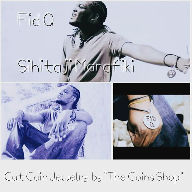 Personalised cut coin for Fid Q