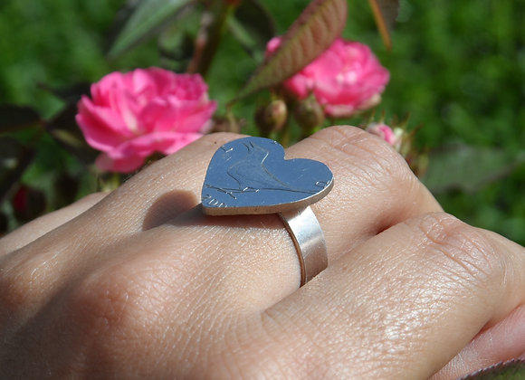 Heart Shaped Coin Ring