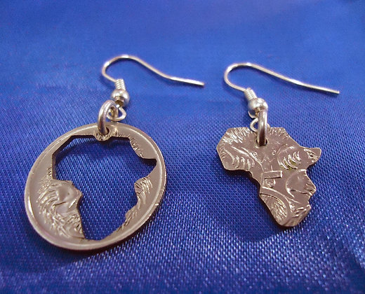 thecoinsshopcomhome Africa Map Earrings