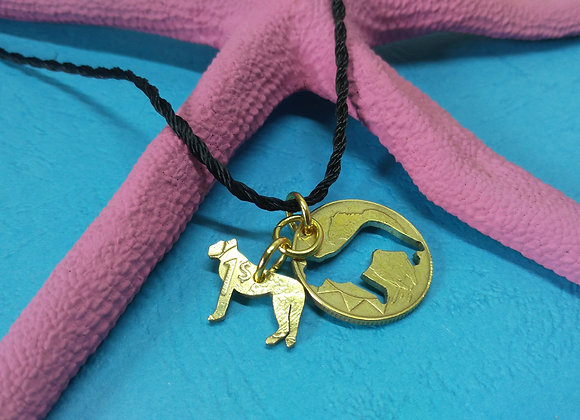 Cheetah dangling- two pieces from one coin Safari Collection