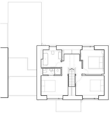 First floor plan as built