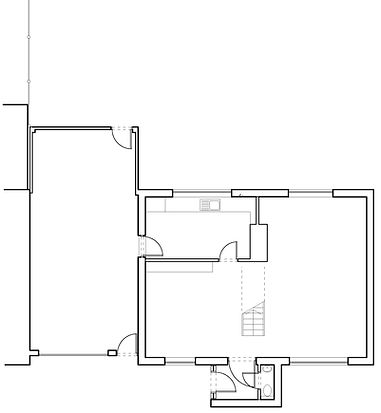 Ground floor plan as existing