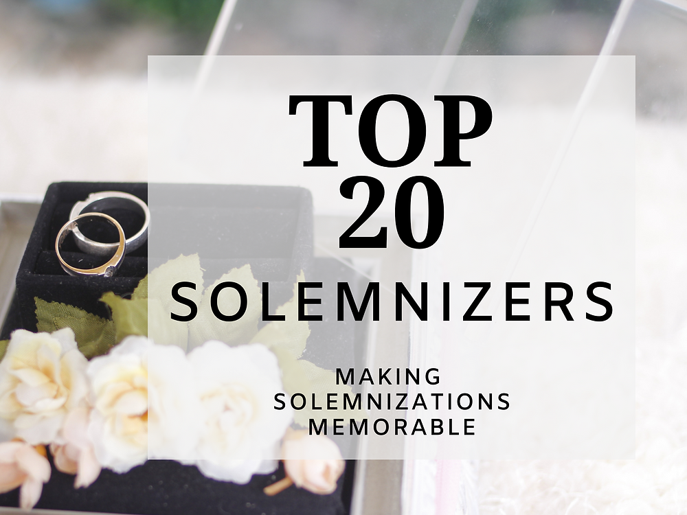 Top 20 Solemnizers in Singapore