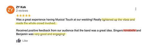 Novabelle Singer Wedding Live Band Revie